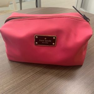 KATE SPADE Pink Travel Makeup Bag / Large Pouch